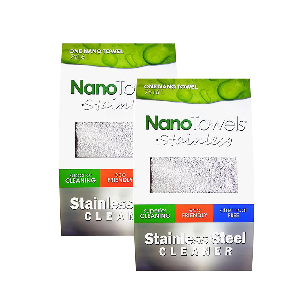 *NanoTowels Stainless Steel Cleaning Towel 2-Pack Special*