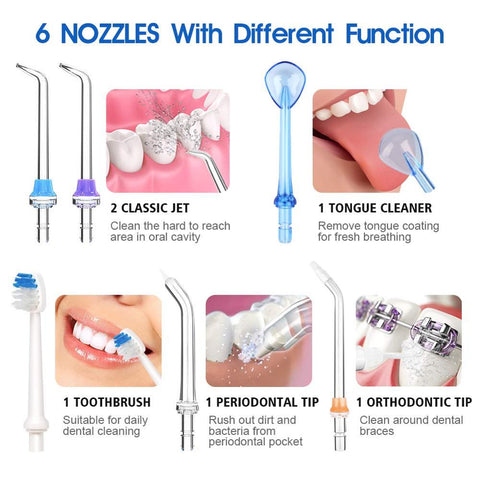 ToothJet™ - Cordless Ultra Water Flosser To Effectively Remove Plaque And Improve Gum Health