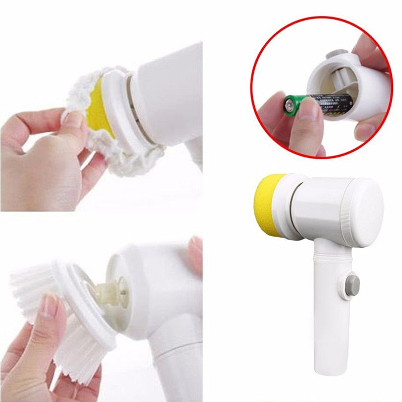 Handheld Electric Cleaning Turbo Brush*