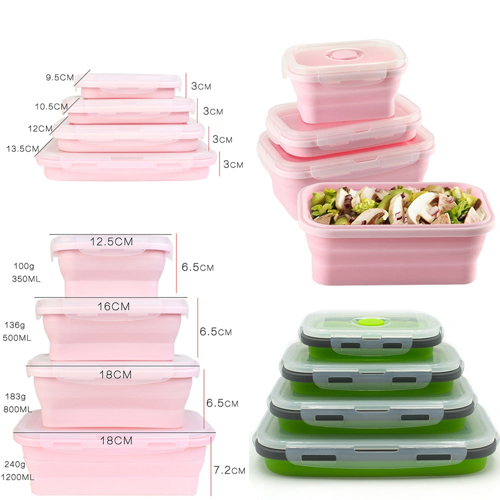 LunchBud™ - Collapsable Lunch Box (4pcs) [FREE SHIPPING]