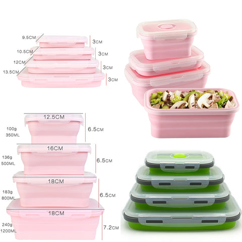 Image of LunchBud™ - Collapsable Lunch Box (4pcs) [FREE SHIPPING]