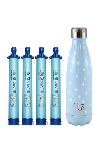 4 x LifeStraw Personal + 1 x Flo (Water)