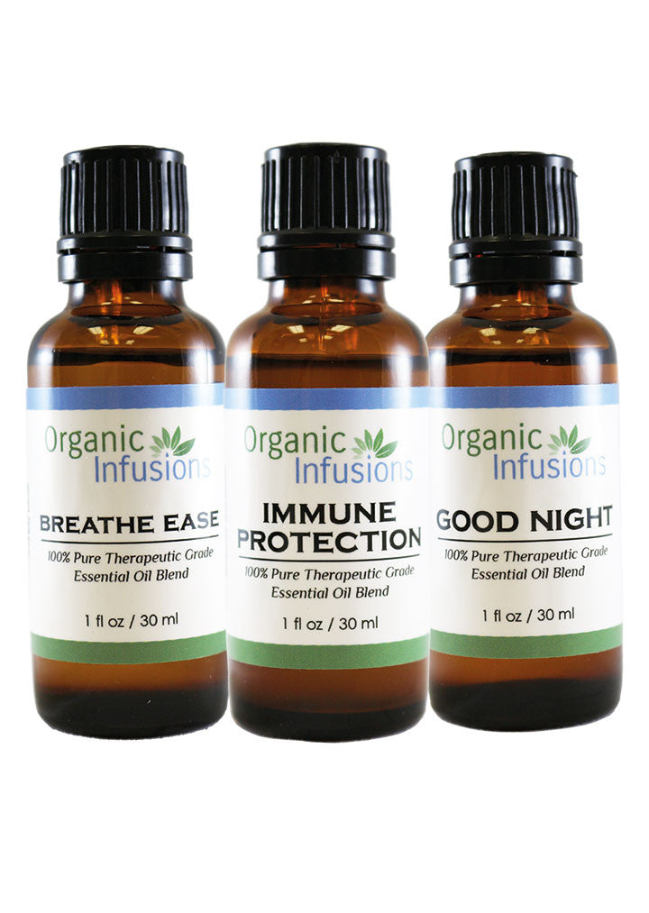[3 Essential Blends] Breath Ease, Good Night & Immune Protection (30ml each)*