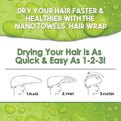Image of [NEW Aqua Bundle] Aqua NanoTowels 1-Pack +  Aqua NanoTowel Hair Drying Wrap*
