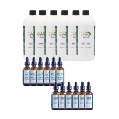Adya Clarity 6 x 32oz + 12 Bonus 2 oz Bottles (Special Price)