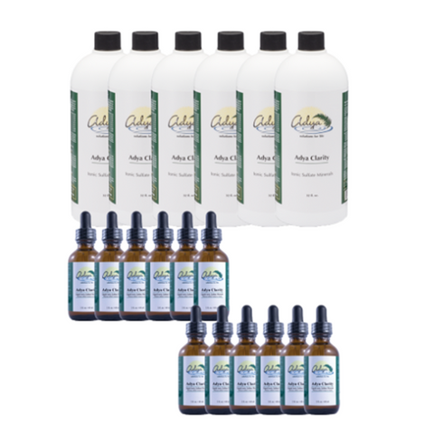 Adya Clarity 6 x 32oz + 12 Bonus 2 oz Bottles - Special Price