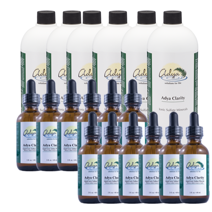 Adya Clarity 6 x 32oz + 12 Bonus 2 oz Bottles.