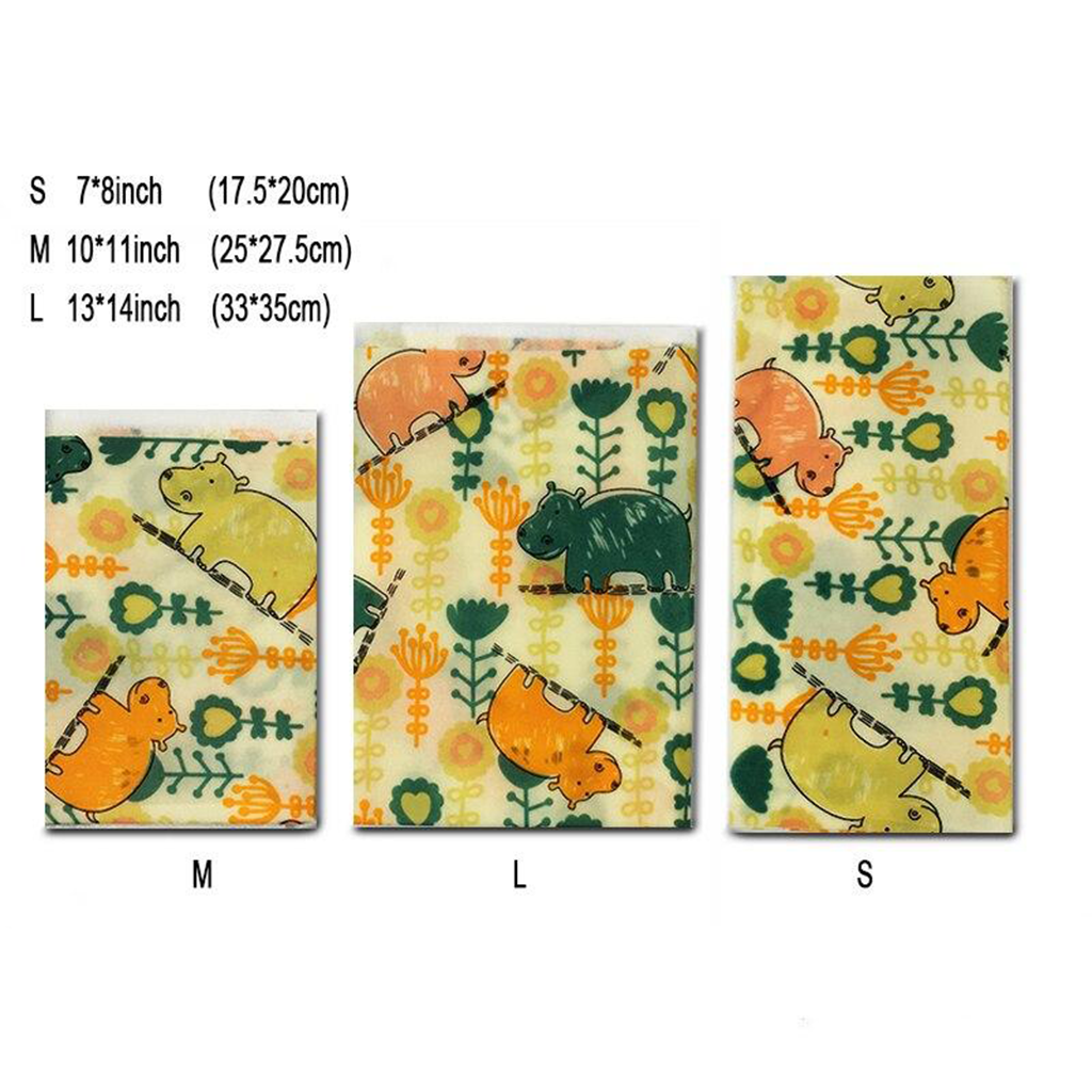 BeeMee™ - Reusable Beeswax Food Wrap (Pack of 6)