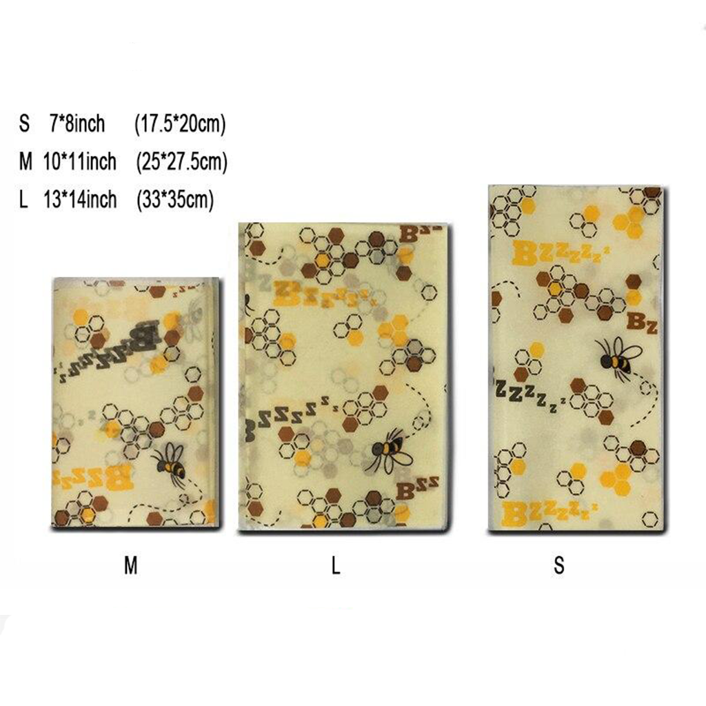 BeeMee™ - Reusable Beeswax Food Wrap (Pack of 6)*