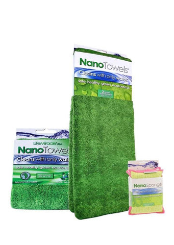 Super NanoTowels 1 pk + Nanotowels 1 pk + NanoSponges 1 pk (Bundle Package)