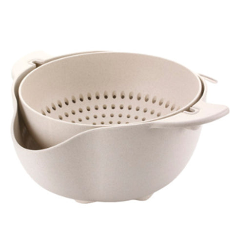 Image of 360° Flipping Strainer - Easy Food Prepper Made From Biodegradable Wheat Straw