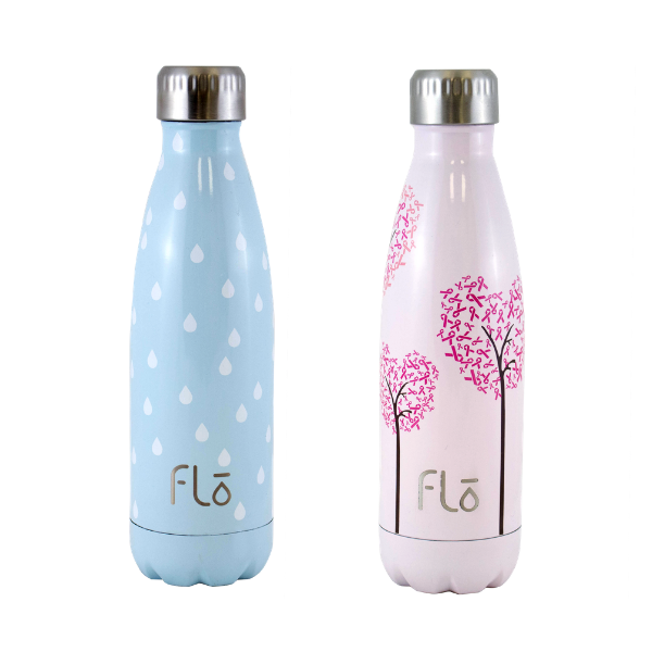 Flo Bottle (Charity : Water) + Flo Bottle (National Breast Cancer Foundation)