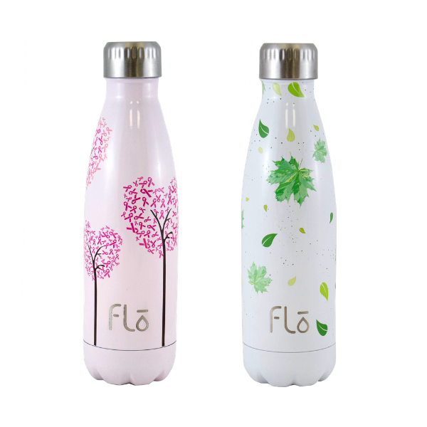 1x Flo Bottle (National Breast Cancer Foundation) + 1x Flo Bottle (Trees for the Future)