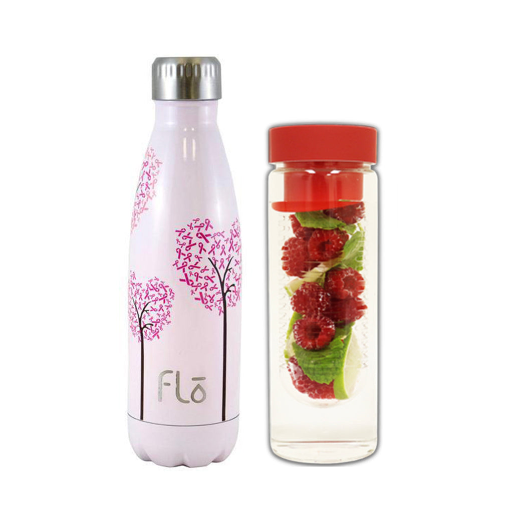 Flo Bottle (National Breast Cancer Foundation) + Fruit Infuser - Special Price