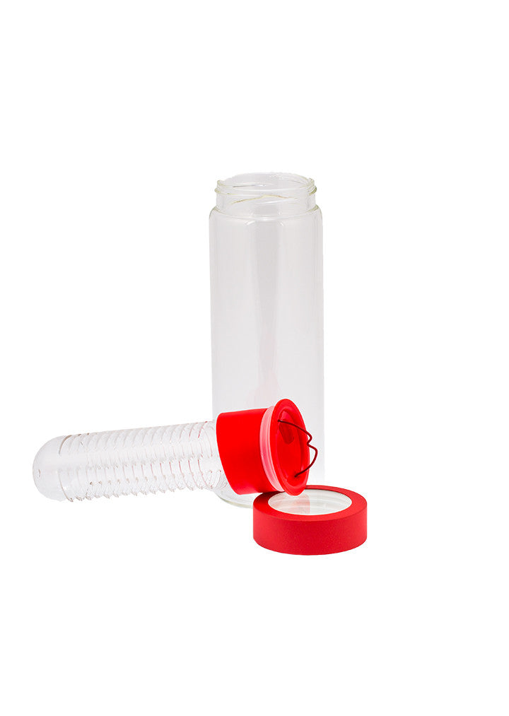 Fruit Infuser Glass Water Bottle*