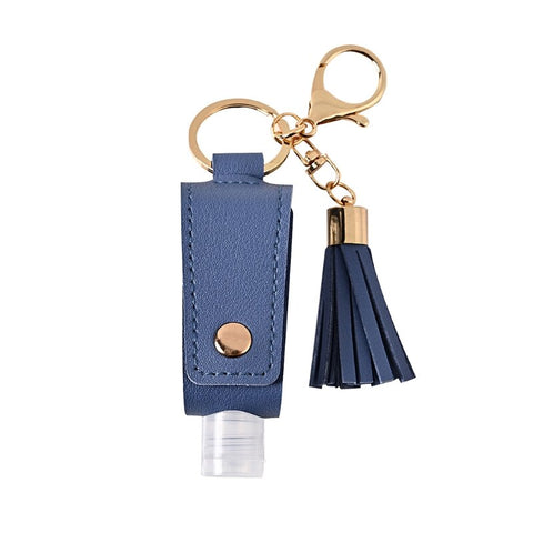 Image of Sani-Pal™ Hand Sanitizer Leather Keychain Holder (Pack of 2)
