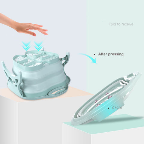 Image of LuckyFeet™ Collapsible Foot Bath Basin With Massage Roller - Special Price