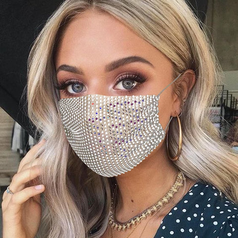 Allure™ Sparkling Rhinestone Face Masks (Set of 2)