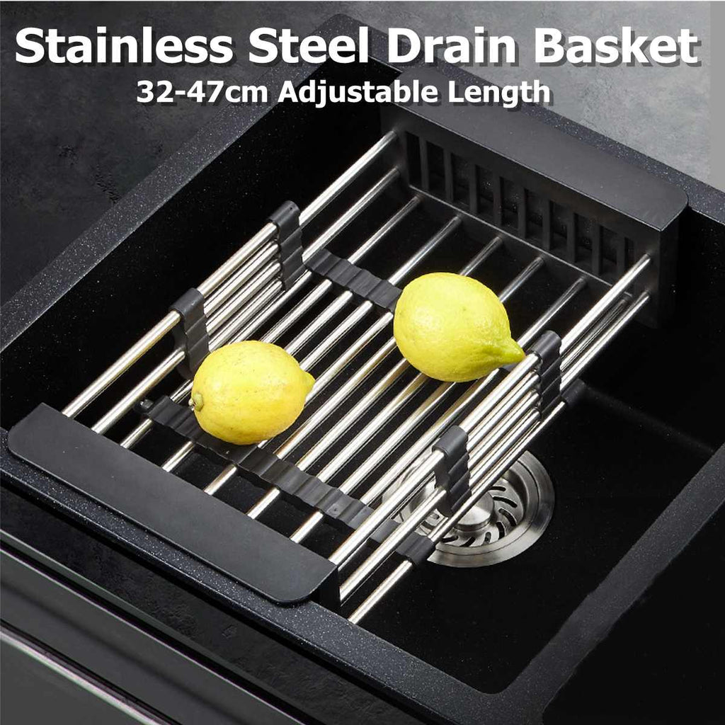 Stainless-Steel Telescopic Drain Basket