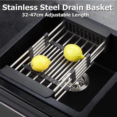 Image of Stainless-Steel Telescopic Drain Basket