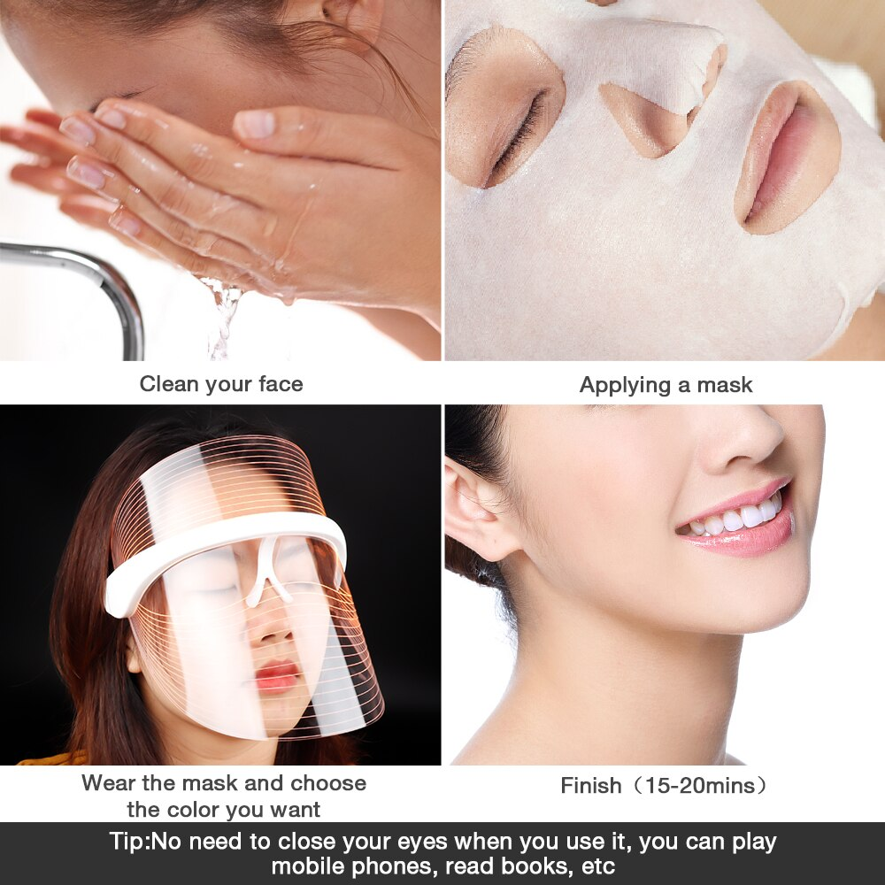Meily™ 3-Color LED Light Therapy Face Mask