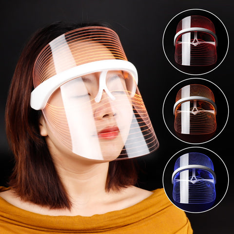 Image of Meily™ 3-Color LED Light Therapy Face Mask