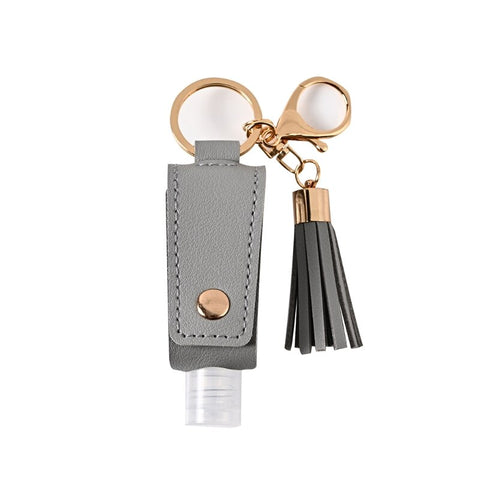 Image of Sani-Pal™ Hand Sanitizer Leather Keychain Holder (Pack of 2) - Special Price
