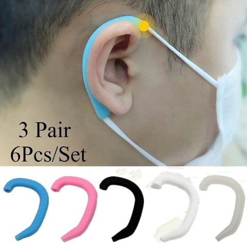 Image of U-Shaped Silicone Mask Ear Saver (3-Pairs) - Special Price