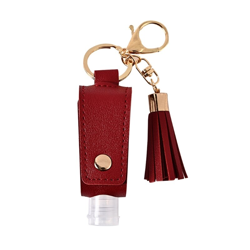 Sani-Pal™ Hand Sanitizer Leather Keychain Holder (Pack of 2) - Special Price