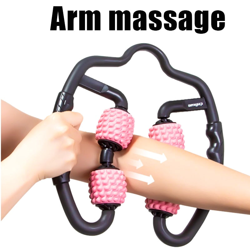 EXO™ U-Shaped Trigger Point Massage Roller For A Controlled Massage In Deep Tissue Relief