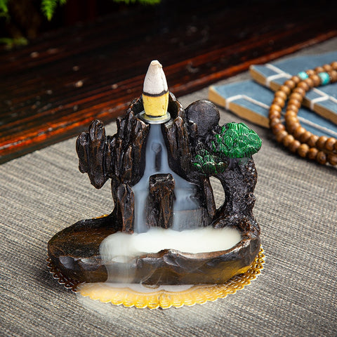 Image of PureFlow™ Ceramic Backflow Incense Burner - BONUS 50x Incense Cones - Special Price