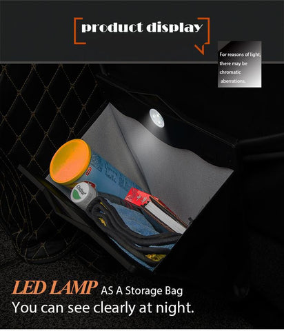 Image of Car Storage Bin With LED Light