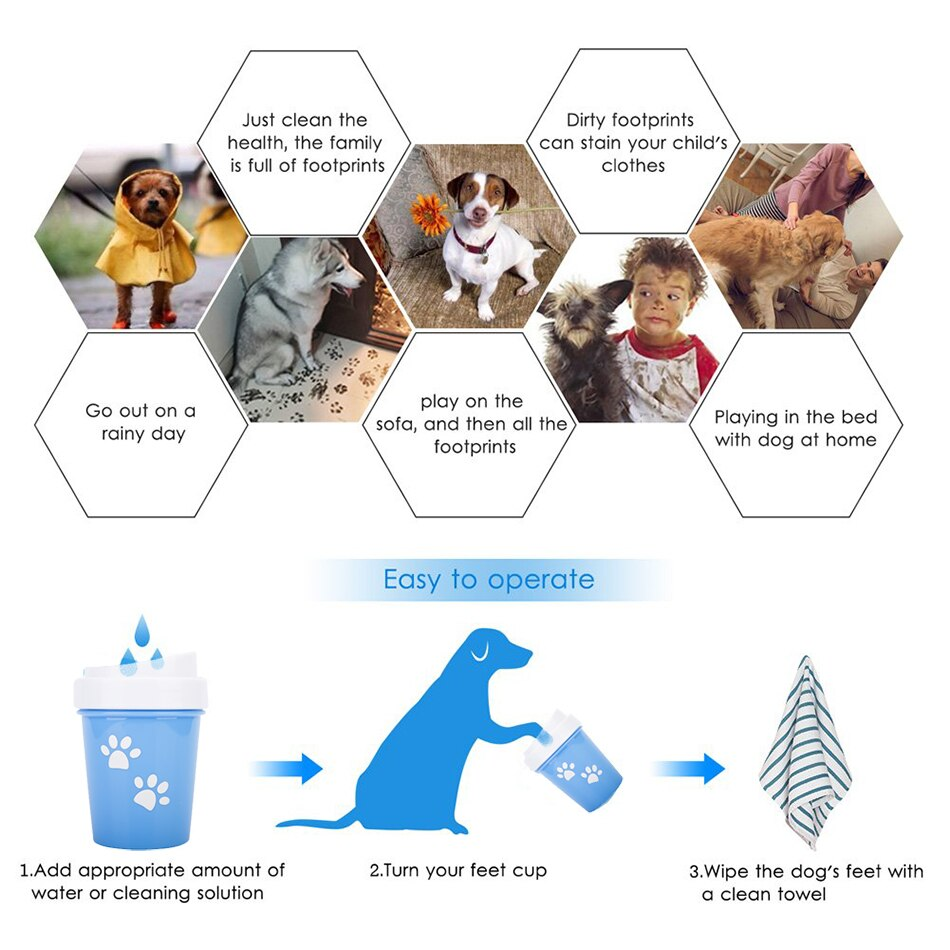 PawDunker™ - Pet Paw Cleaner For A Quick & Gentle 360° Wash