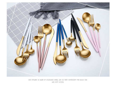 Image of Gold Flatware Set