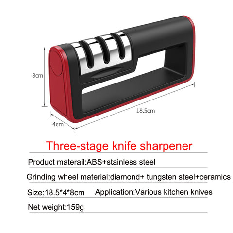 Agudo™ Professional 3-Stage Knife Sharpener To Keep Your Knives Sharp And Minimize Injury