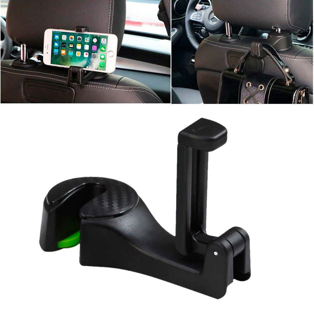 2-in-1 Car Seat Hook & Phone Holder