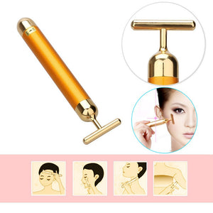 Aurum™ - Vibrating T-Bar Facial Massager To Stimulate Blood Circulation For Skin Rejuvenation