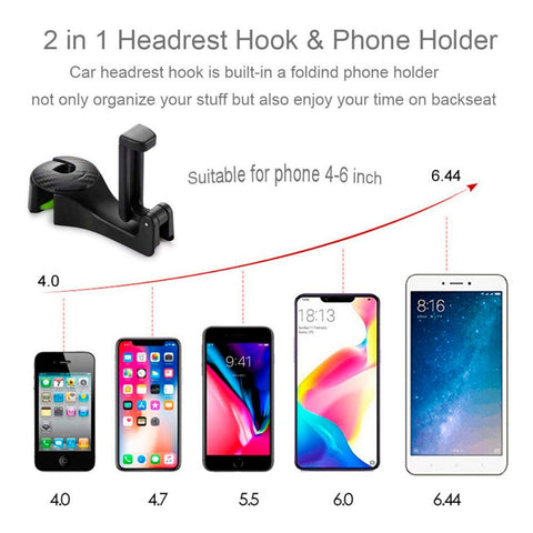 Image of 2-in-1 Car Seat Hook & Phone Holder