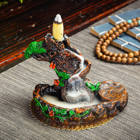 PureFlow™ Ceramic Backflow Incense Burner - BONUS 50x Incense Cones - Special Price