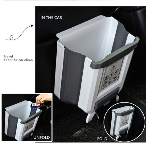 EZTrash™ - Collapsible Door Hanging Trash Bin Combo
