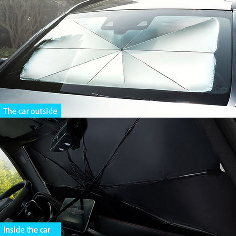 Image of SunWall™ - Retractable Windshield Sunshade To Protect Car Interior & Block Harmful UV Rays