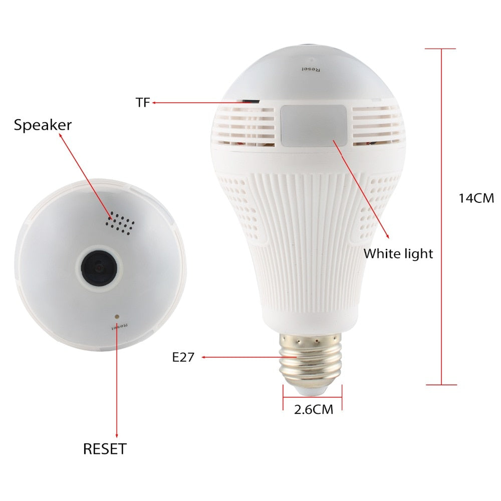2-in-1 Security Camera Light Bulb