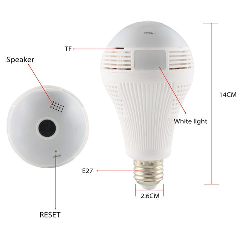 Image of 2-in-1 Security Camera Light Bulb
