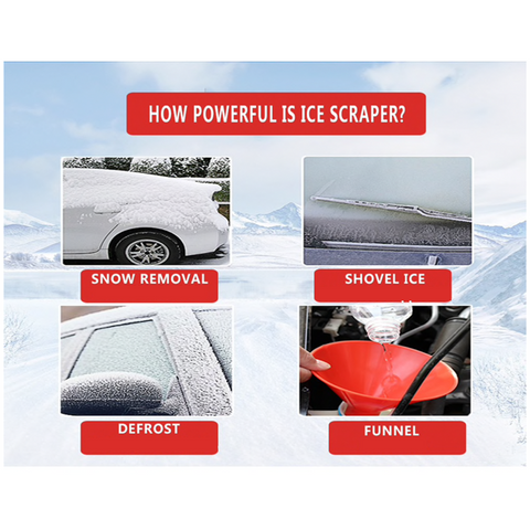 Image of Winter Auto-Combo: Windshield Protective Cover + Ice Scraper