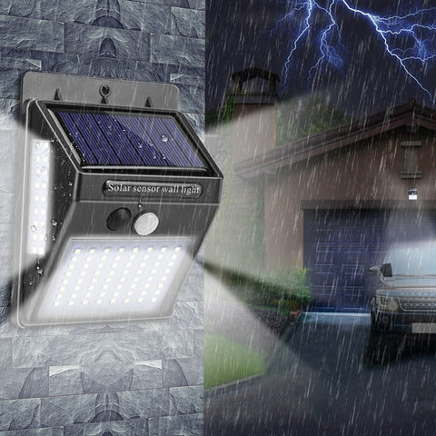 Image of Solar Powered & Motion Sensor LED Lamp
