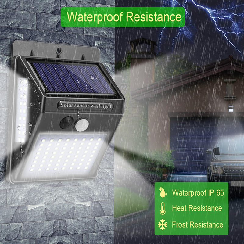 Solar Powered & Motion Sensor LED Lamp - Special Price*