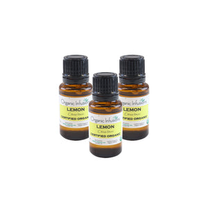 Organic Lemon Essential Oil 15ml (3-Bottle Special)