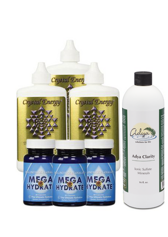 Mega Hydration Pack (3 x MegaHydrate + 3 x Crystal Energy + 1 x AC 16oz Bottle)