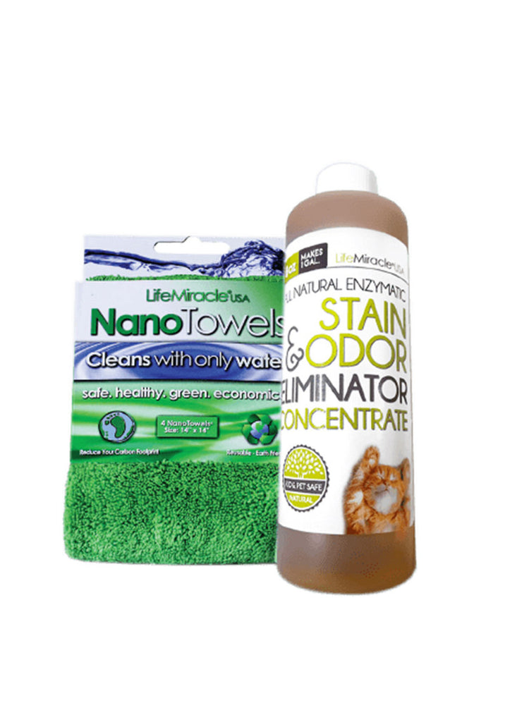 All-Natural Enzyme Concentrate x 1 (8oz) + NanoTowel x 1