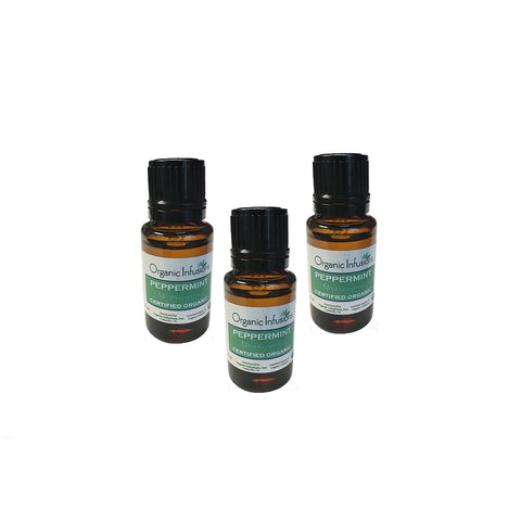 Organic Peppermint Essential Oil 15ml (3-Bottle Special)
